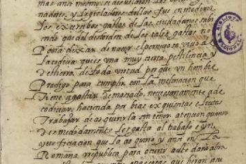 ANÓNIMO. [Tratado de arquitectura]. [s.l]: [manuscrito], [c.1550]. fol. 1. Imagen: Biblioteca Nacional de España, Madrid. Signatura: Mss/9681